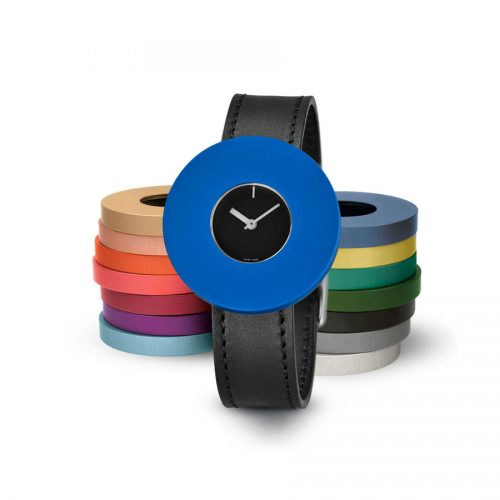 Pierre Junod Vignelli Halo horloge zwart zwarte band