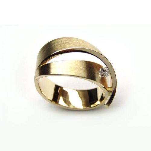 Cardillac Orchid gouden ring met diamant
