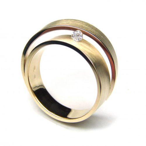 Cardillac ring Violet met 0,06ct briljant-0