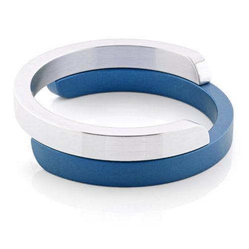 Clic armband A2G glans blauw