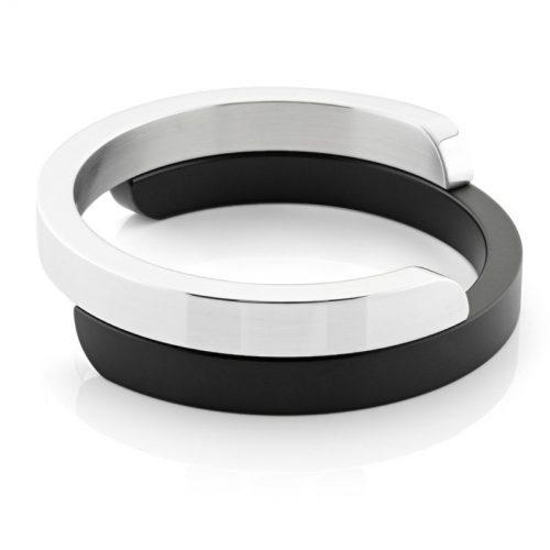 Clic armband A2Z glans zwart