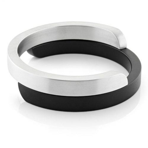 Clic armband A2Z mat zwart