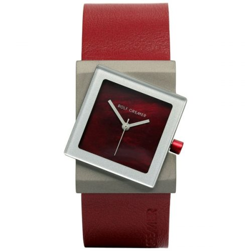 Rolf Cremer Big Turn horloge rood