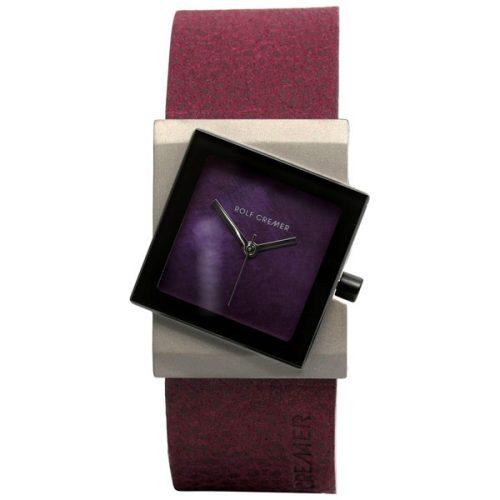 Rolf Cremer Big Turn horloge paars