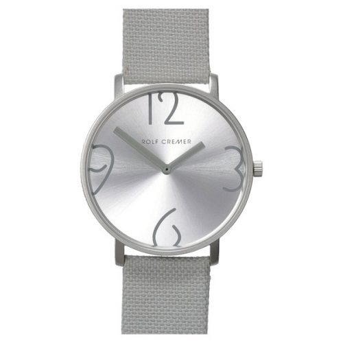 Rolf Cremer Flat 44 horloge zilver