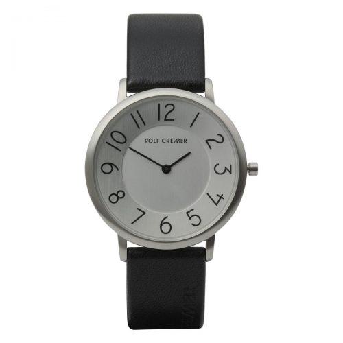 Rolf Cremer Gent horloge zwart met zilveren wijzerplaat