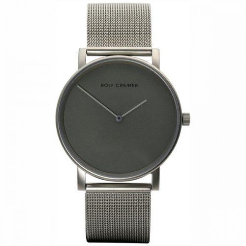 Rolf Cremer Pur horloge met grijze wijzerplaat en milanese band.