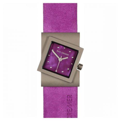 Rolf Cremer Turn horloge paars