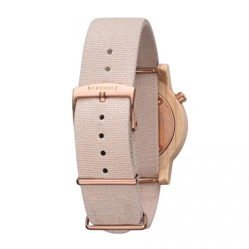 Kerbholz Wilma Maple Rose horloge 2
