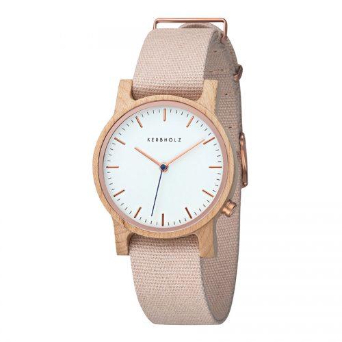 Kerbholz Wilma Maple Rose horloge