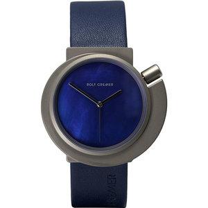 Rolf Cremer Spirale horloge blauw-titanium 492344